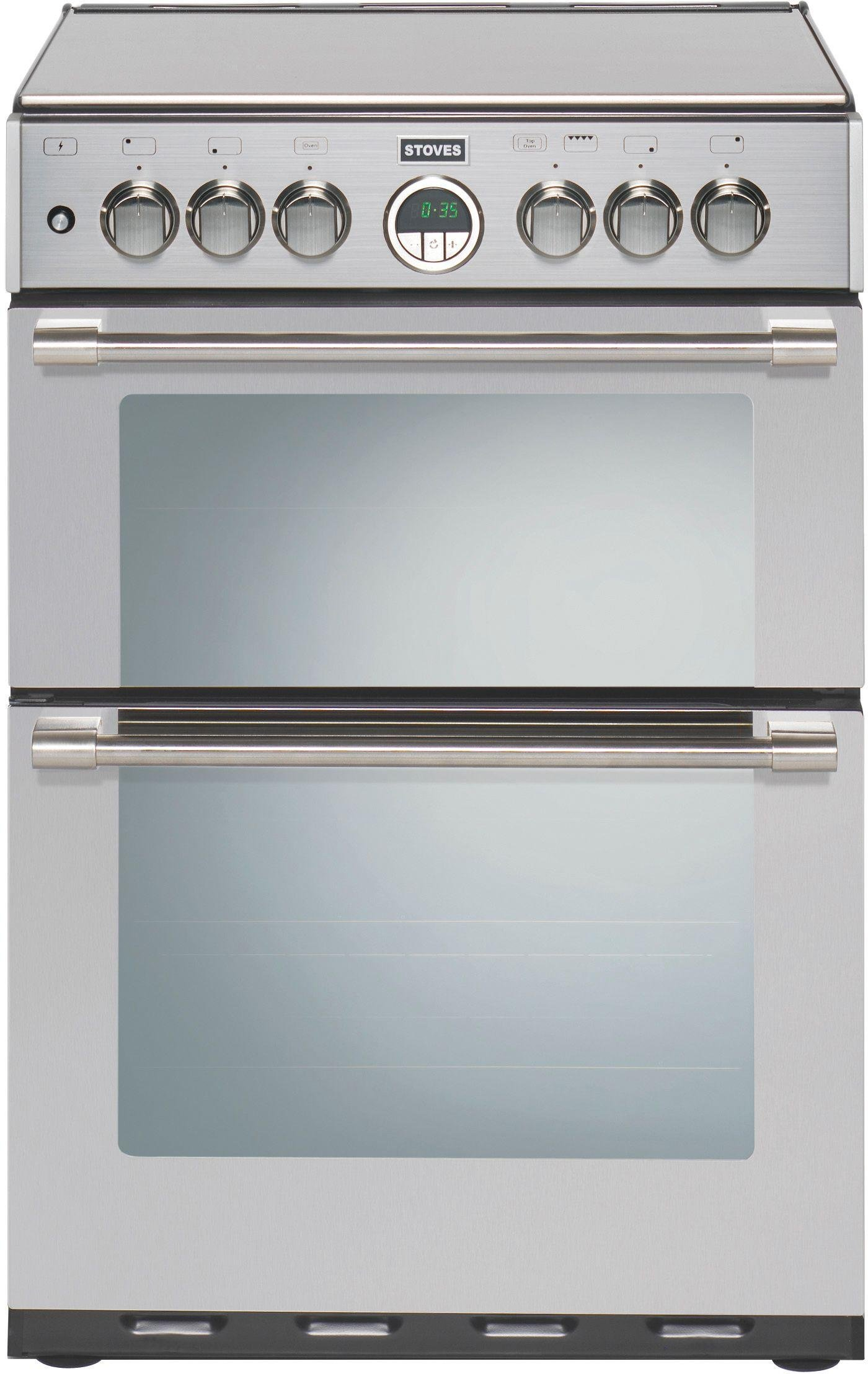 Stoves - Sterling 600G Double Gas Cooker - Stainless Steel