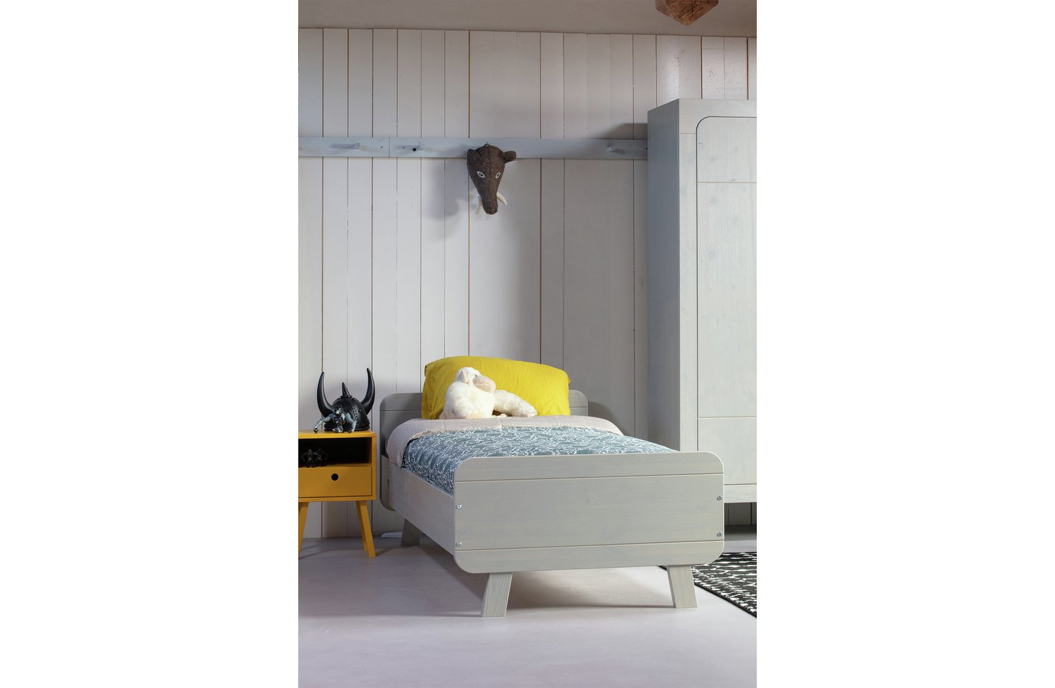 Woood Sammie Grey Bed Frame