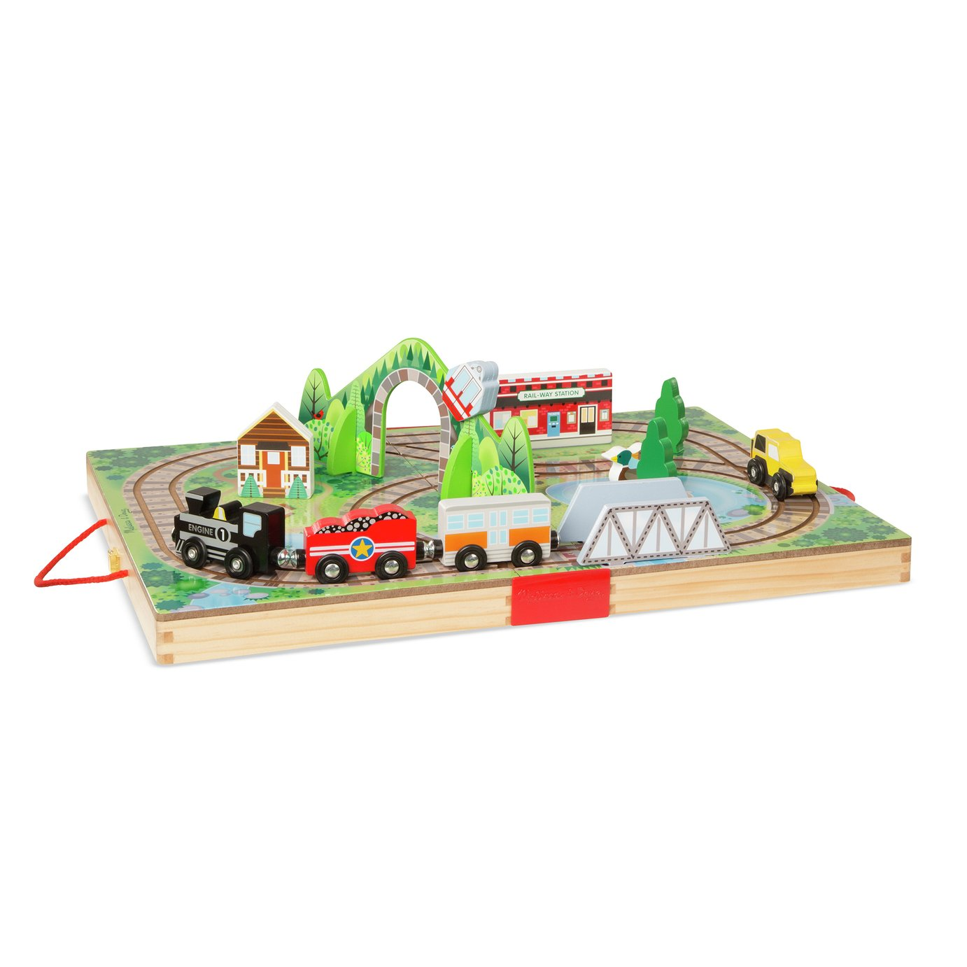 Melissa & Doug Take Along Tabletop Rail Road