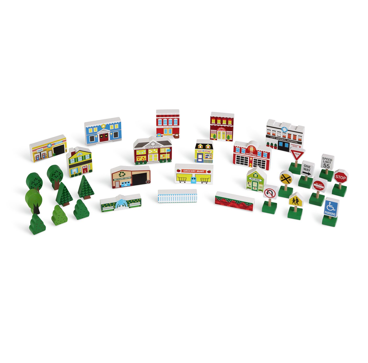 Melissa and Doug Wooden Town Playset