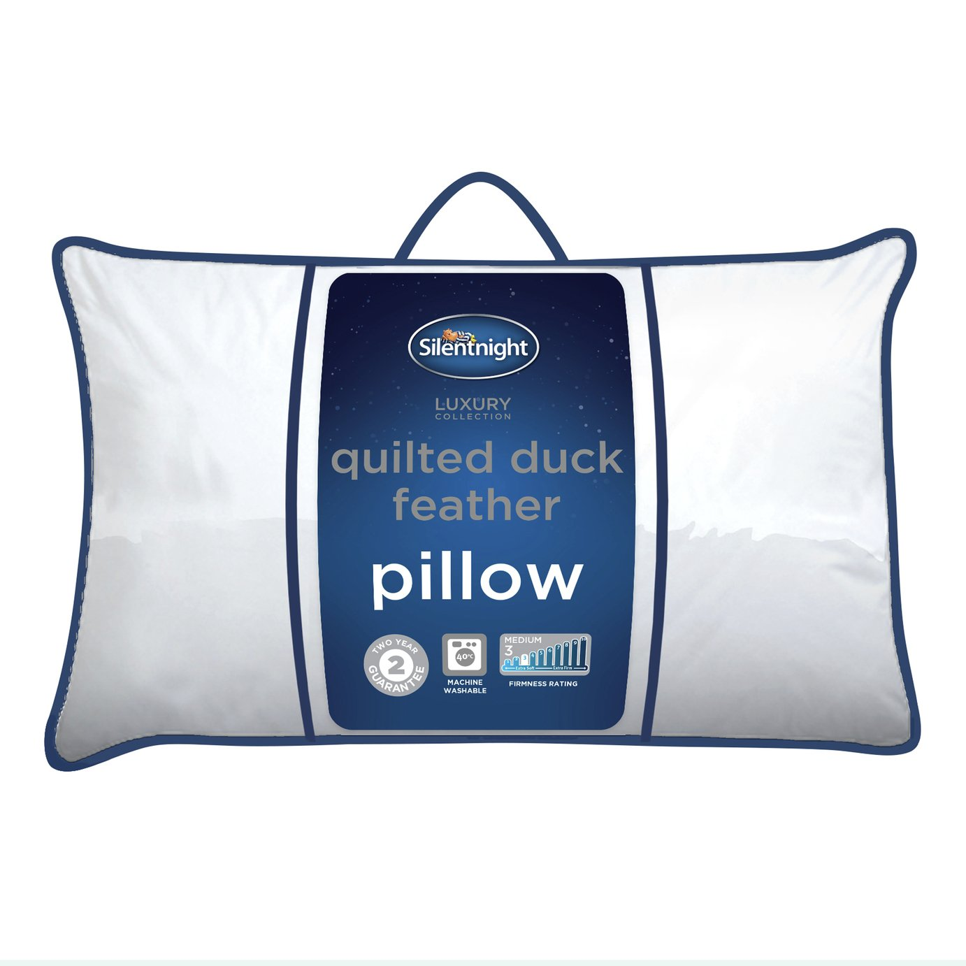 Silentnight Quilted Duck Feather Pillow