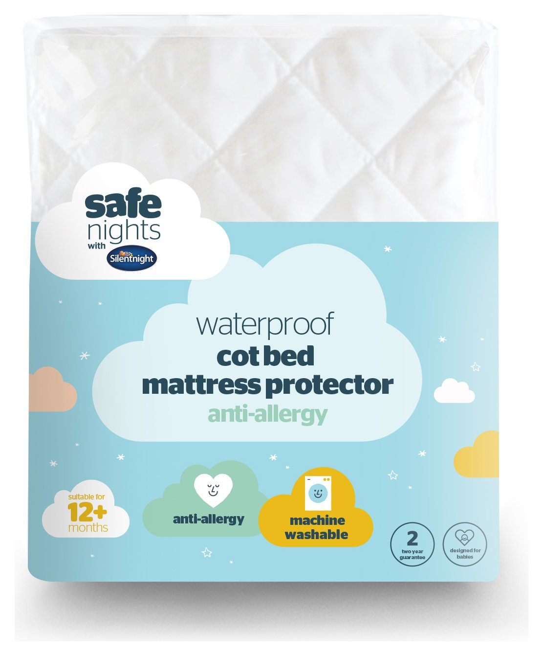 Silentnight Quilted Waterproof Mattress Protector - Toddler