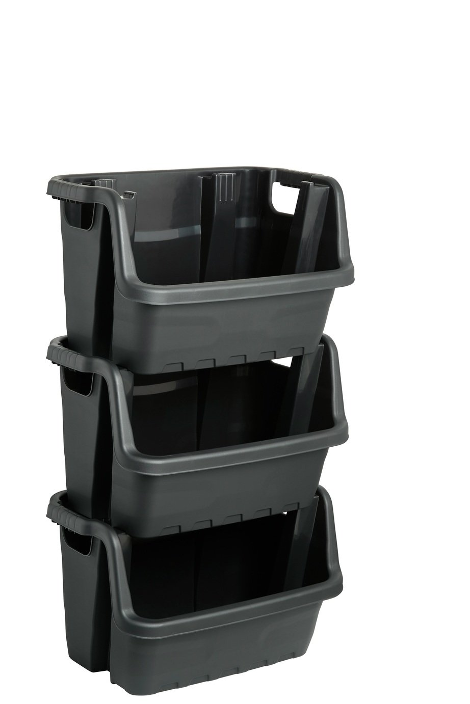 Strata 55 Litre Heavy Duty Stacking Crate - Set of 3