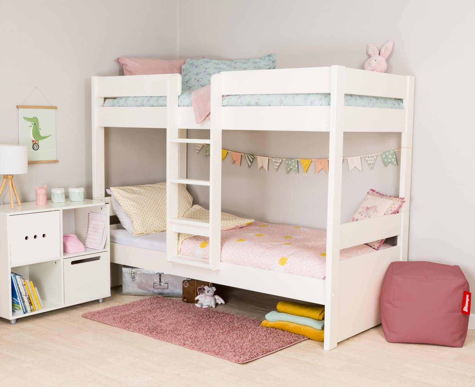 Stompa White Bunk Bed Frame