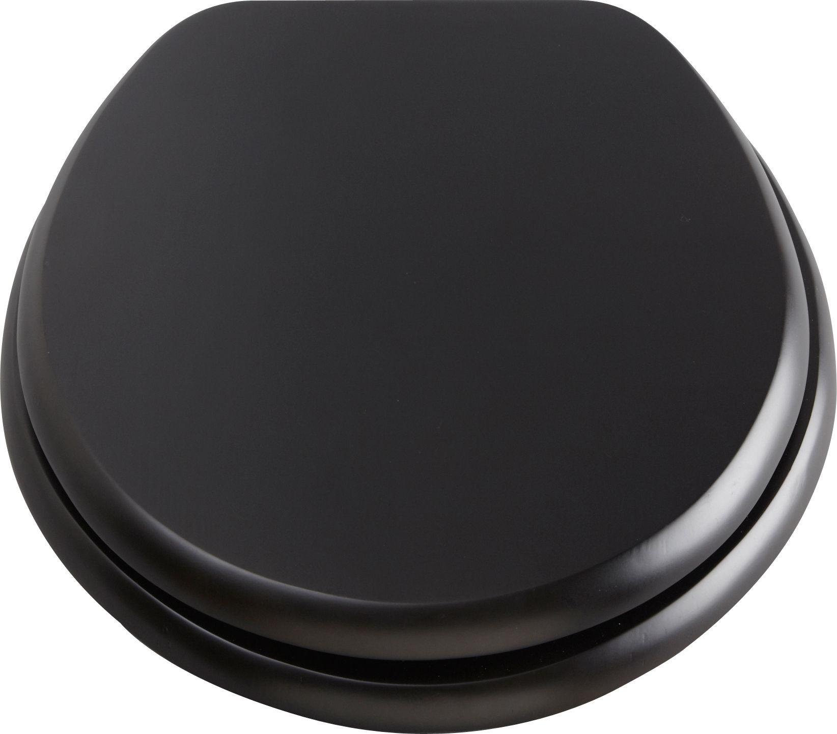 Argos Home - Solid Wood Slow Close - Toilet Seat - Black