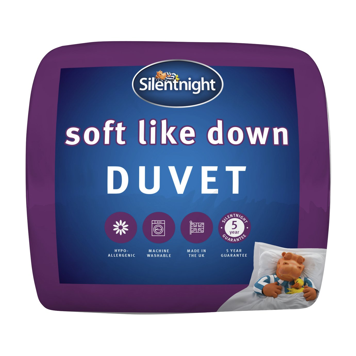 Silentnight Soft Like Down Anti-Allergy 10.5 Tog Duvet - Sgl