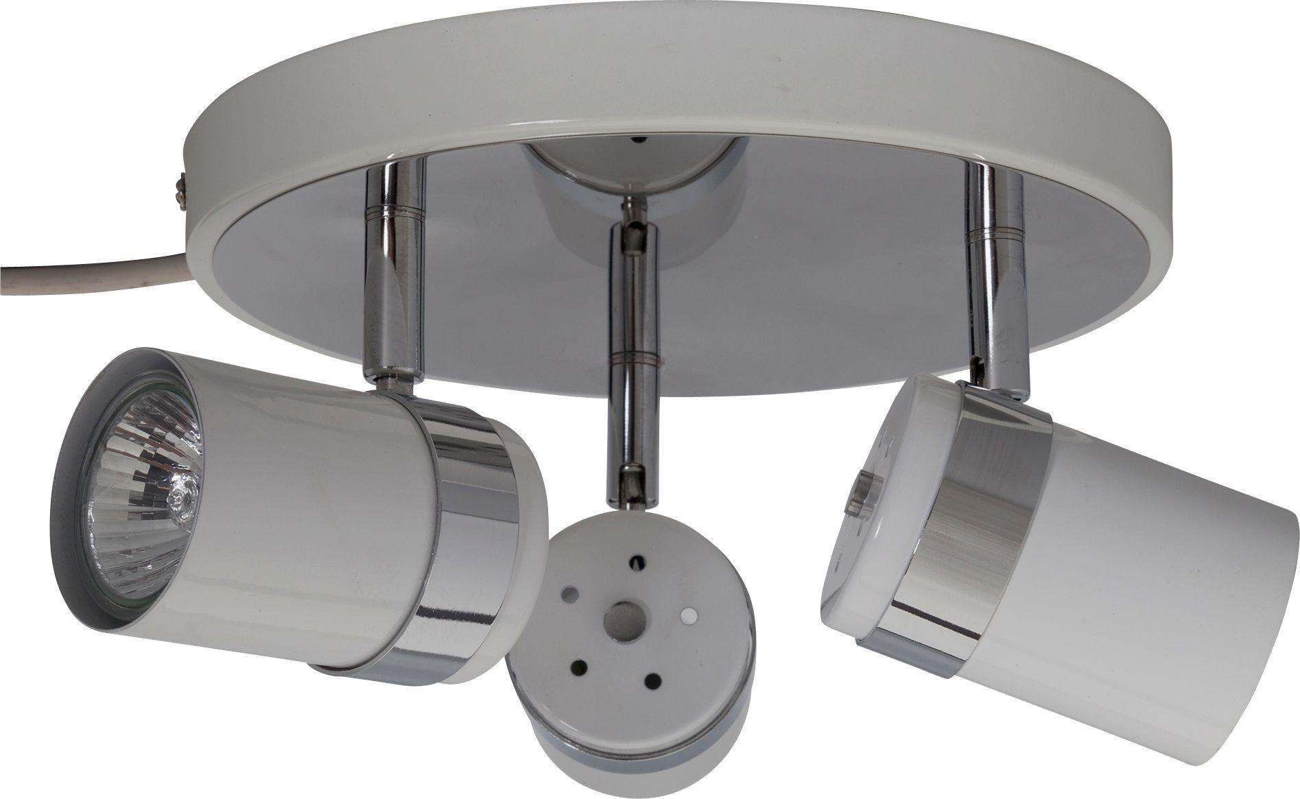 Argos Home - Shiro 3 Spotlight Plate - White and Chrome