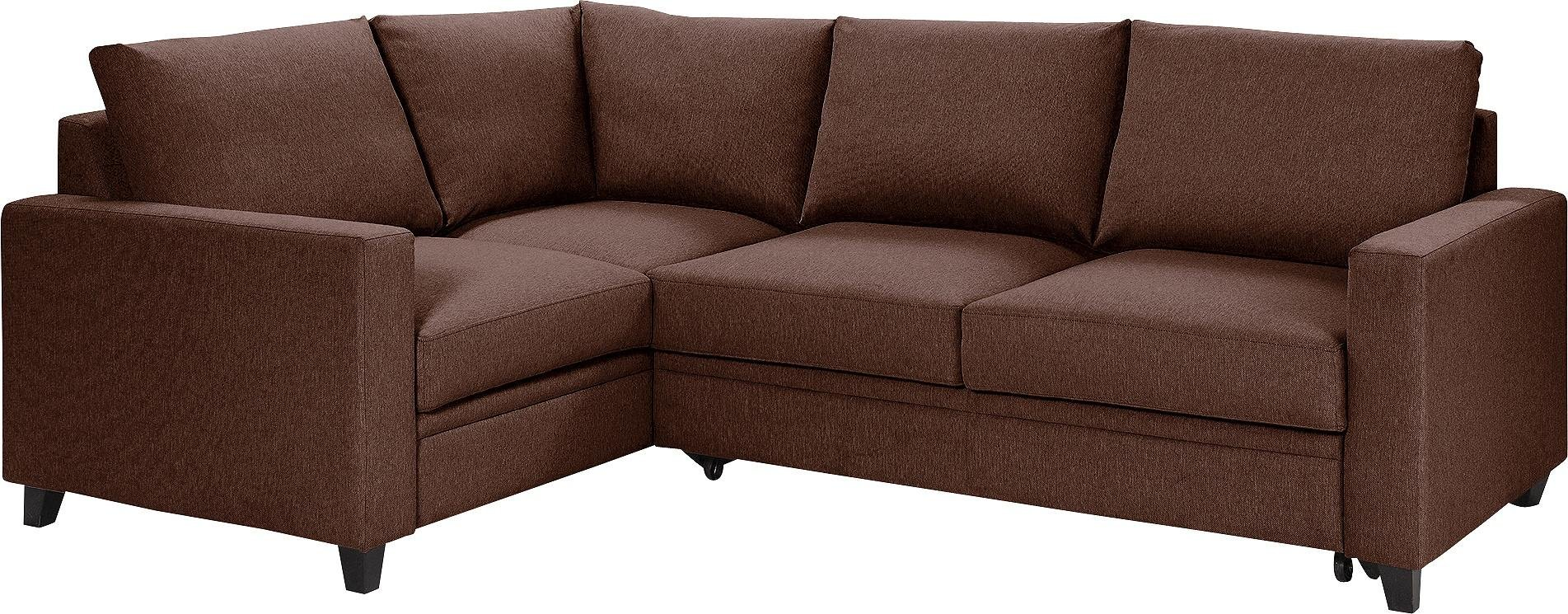 Argos Home Seattle Left Corner Fabric Sofa Bed - Brown