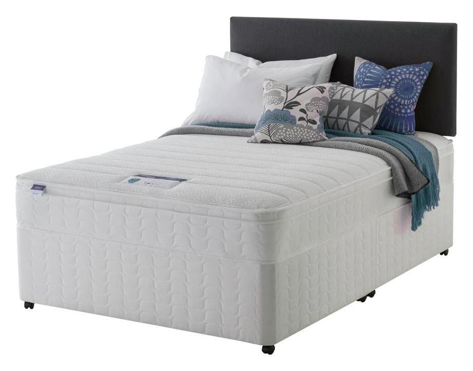 Silentnight - Miracoil Travis Cushiontop - Double - Divan Bed at Argos