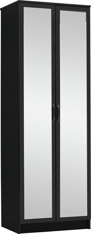 Argos Home Cheval 2 Door Mirrored Wardrobe - Black