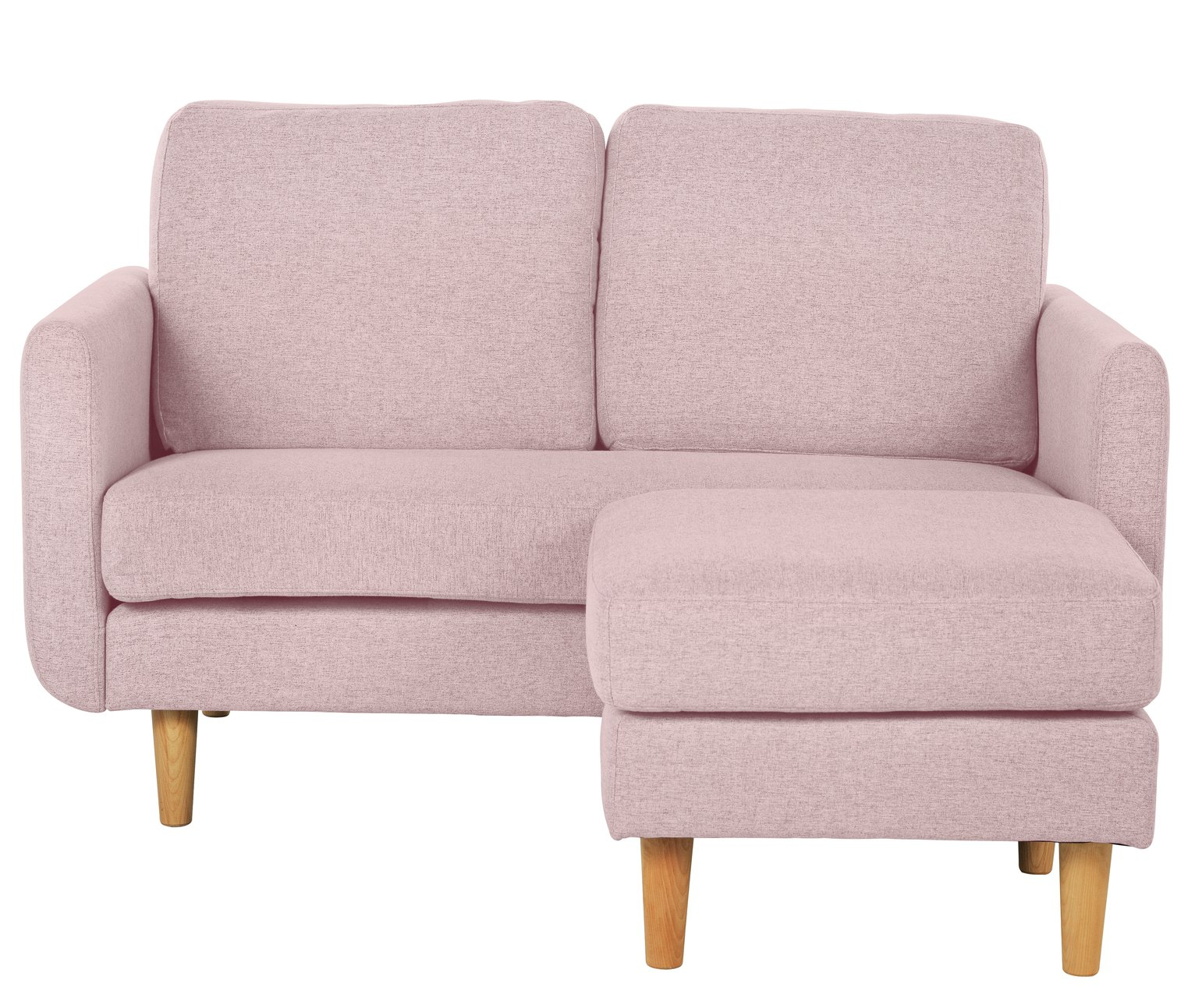 Argos Home Remi 2 Seater Fabric Chaise in a Box - Pink