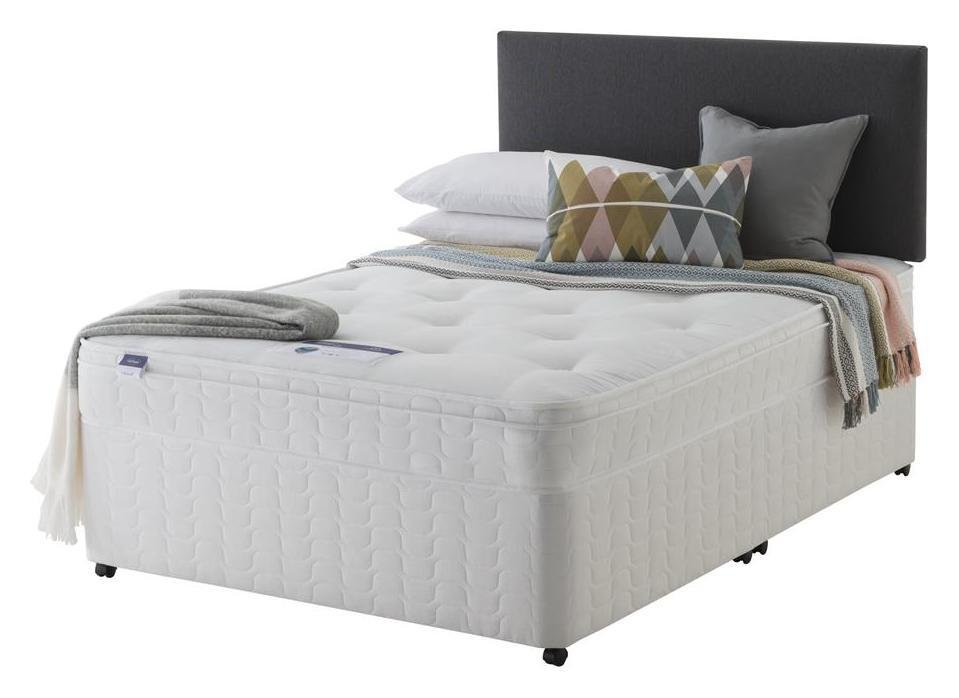 Silentnight - Miracoil Travis Ortho - Double - Divan Bed at Argos