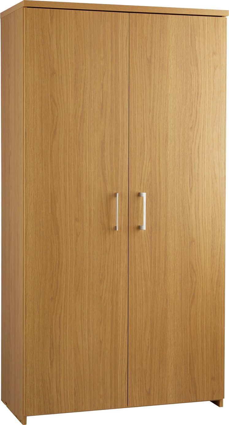 Argos Home Walton Tall 2 Door Cupboard - Oak Effect