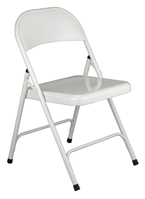 Habitat Macadam Metal Folding Chair - White at Argos