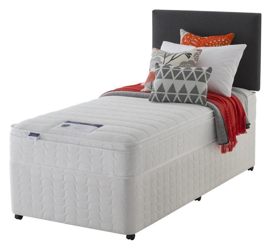 Silentnight Travis Miracoil Cushiontop Divan - Single