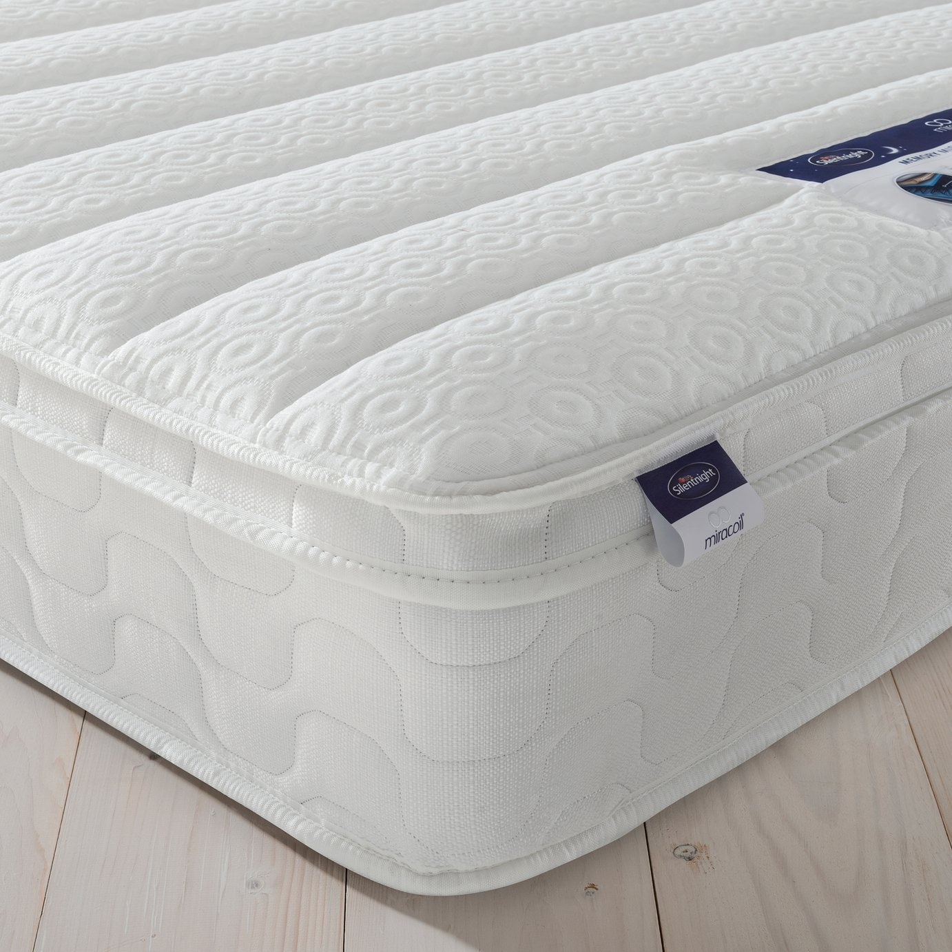 Silentnight - Miracoil Travis Cushiontop - Single Mattress at Argos