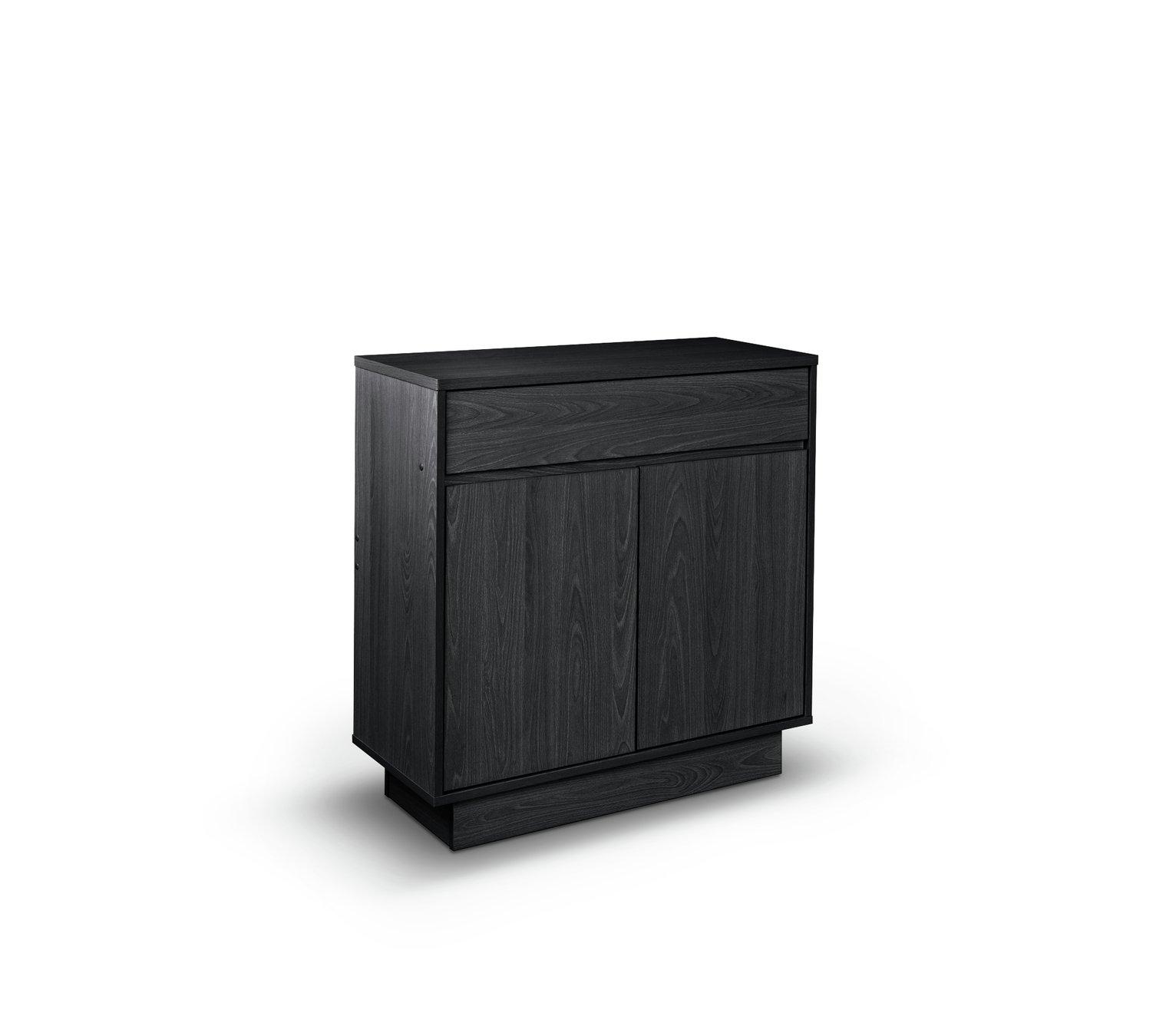 Argos Home Cubes 2 Door 1 Drw Small Sideboard - Black Ash