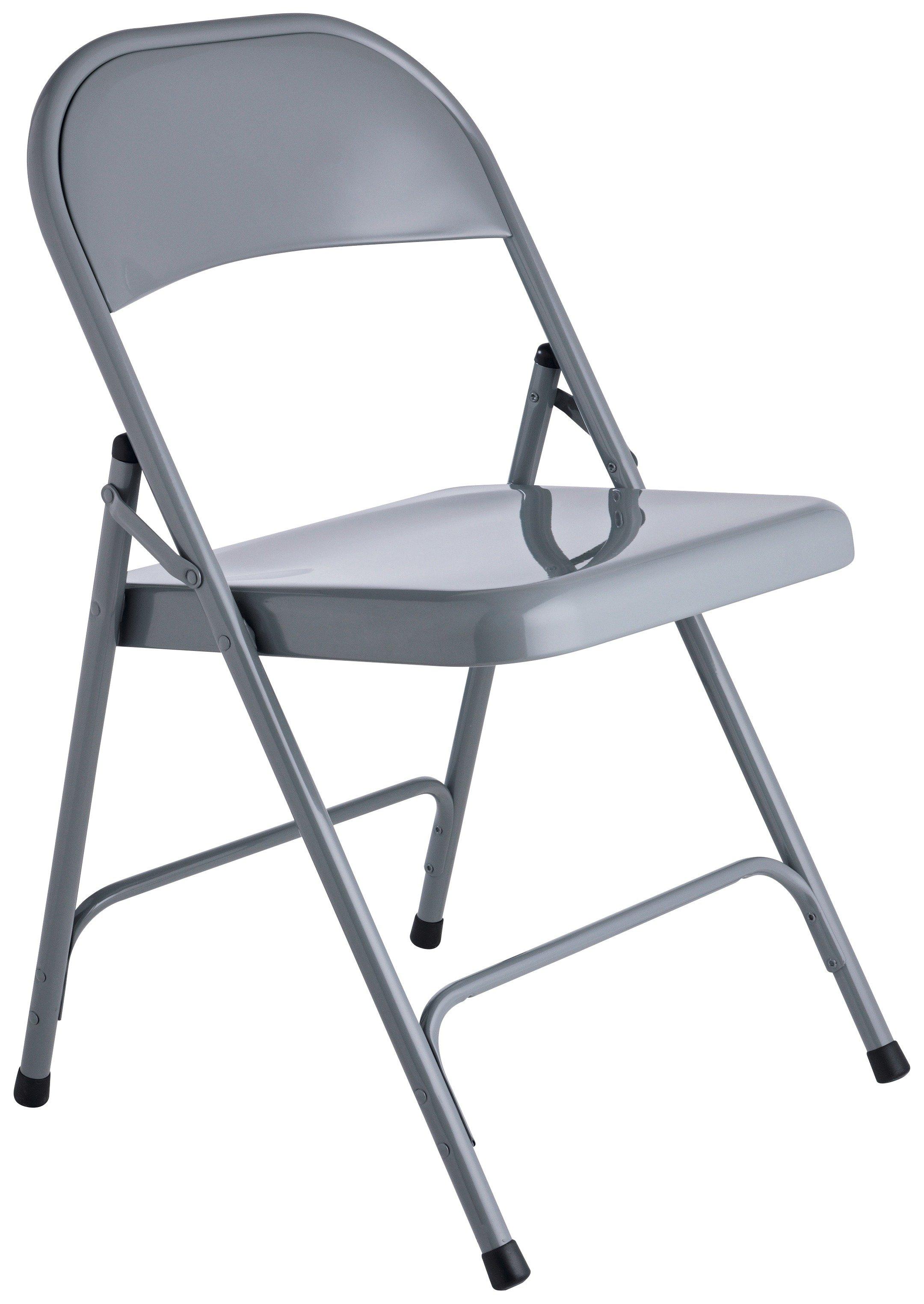 Habitat Macadam Metal Folding Chair - Grey at Argos