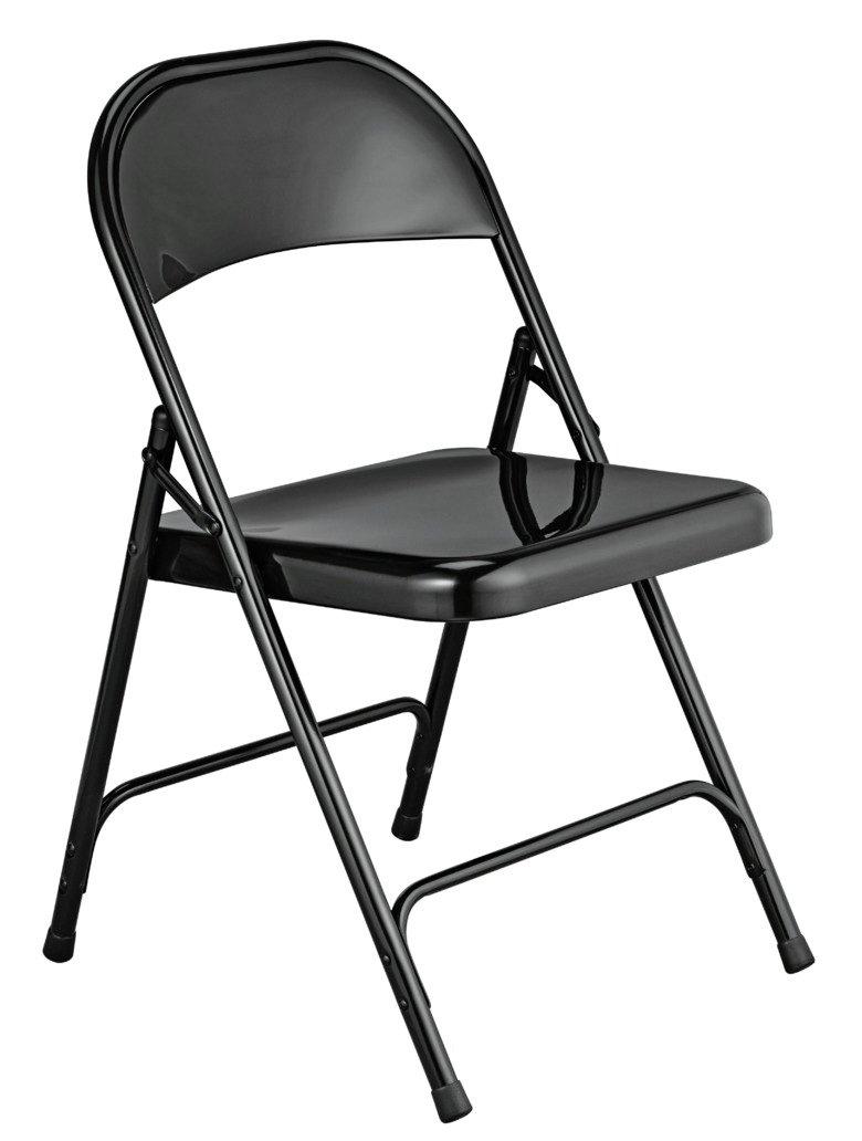 Habitat Macadam Metal Folding Chair - Black at Argos