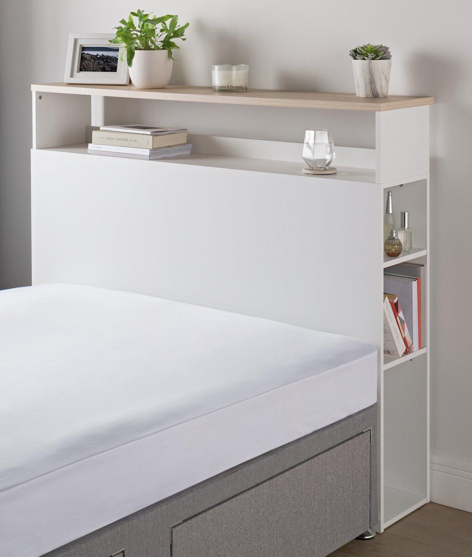 Argos Home Storage Double Headboard - White