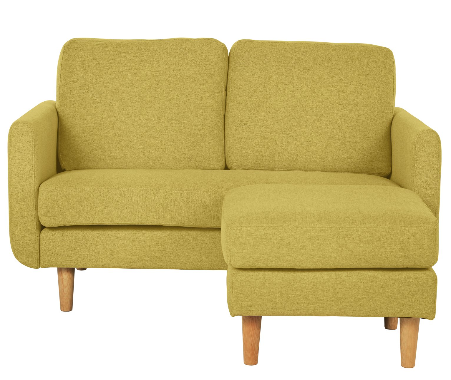 Argos Home Remi 2 Seater Fabric Chaise in a Box - Yellow
