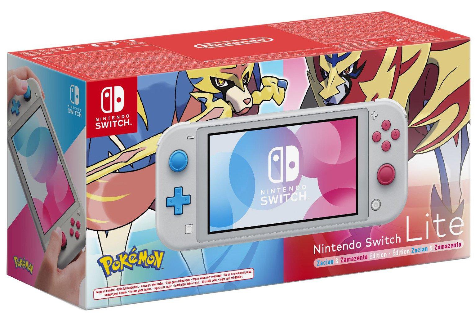Nintendo Switch Lite Handheld Console - Zacian & Zamezenta