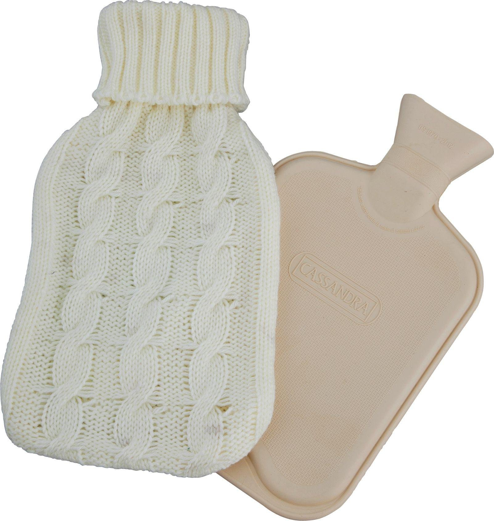 Cassandra - Hot Water Bottle with Chunky Knit Cover
