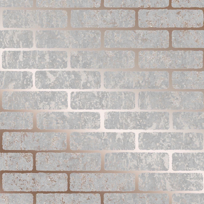 Graham & Brown Milan Brick Wallpaper - Rose Gold