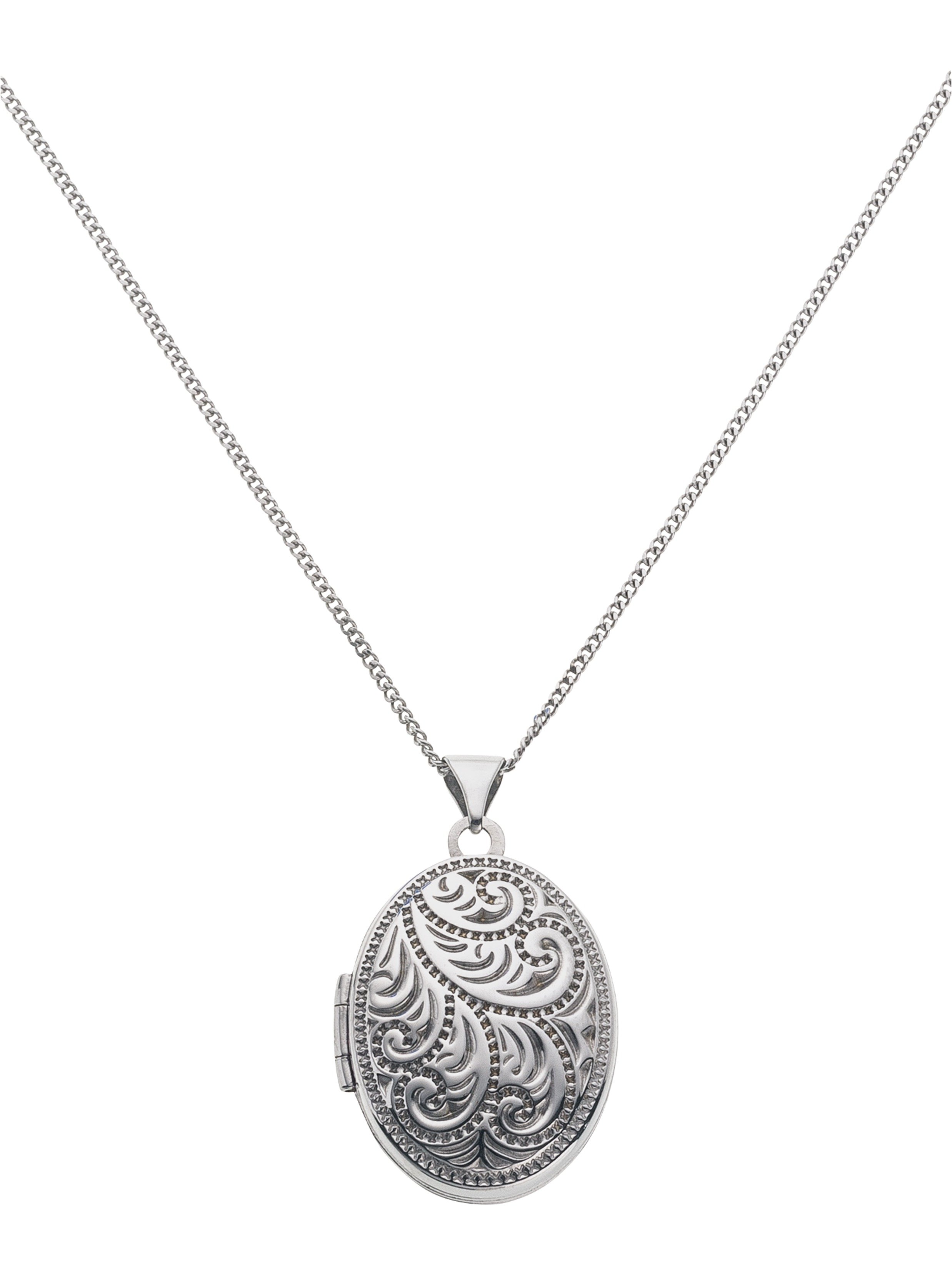Moon & Back Sterling Silver Oval Family 4 Photo Locket