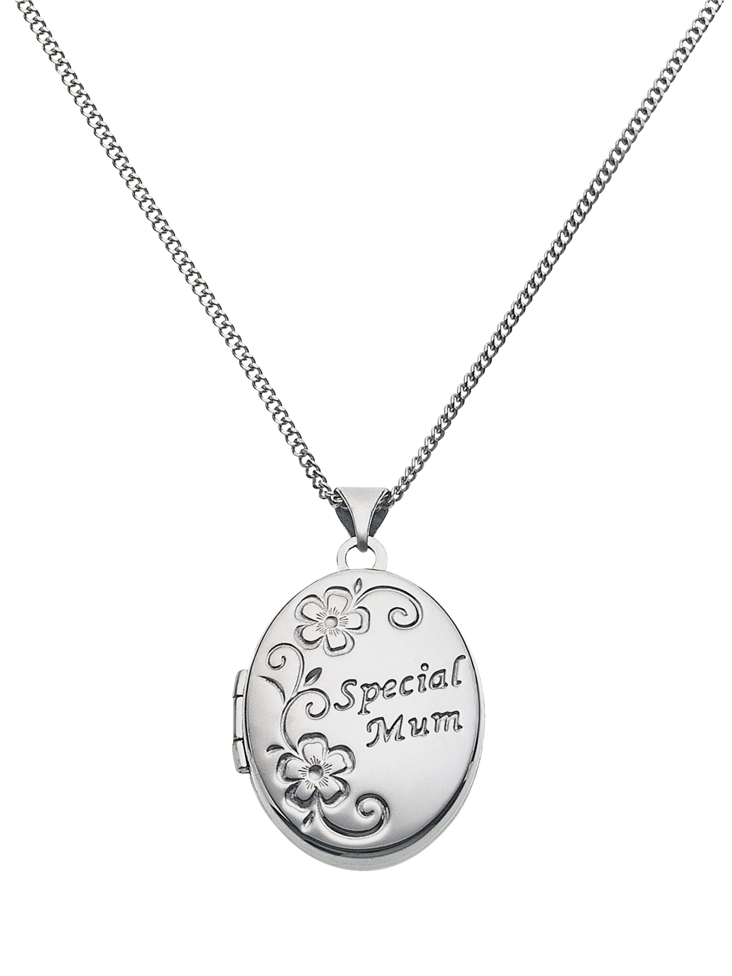 Moon & Back Silver 'Special Mum' Oval 4 Photo Locket