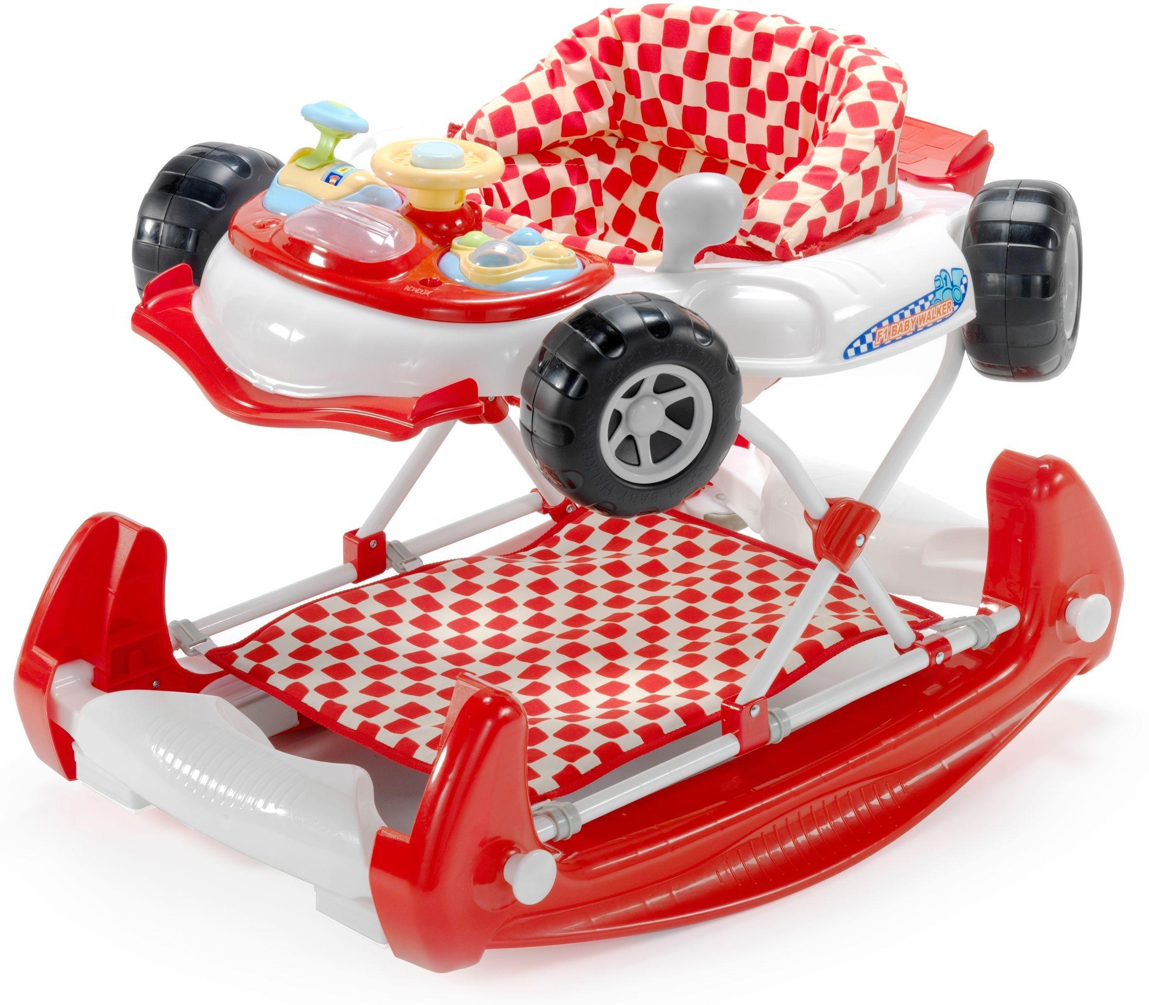 MyChild Car 2 In 1 Baby Walker Red