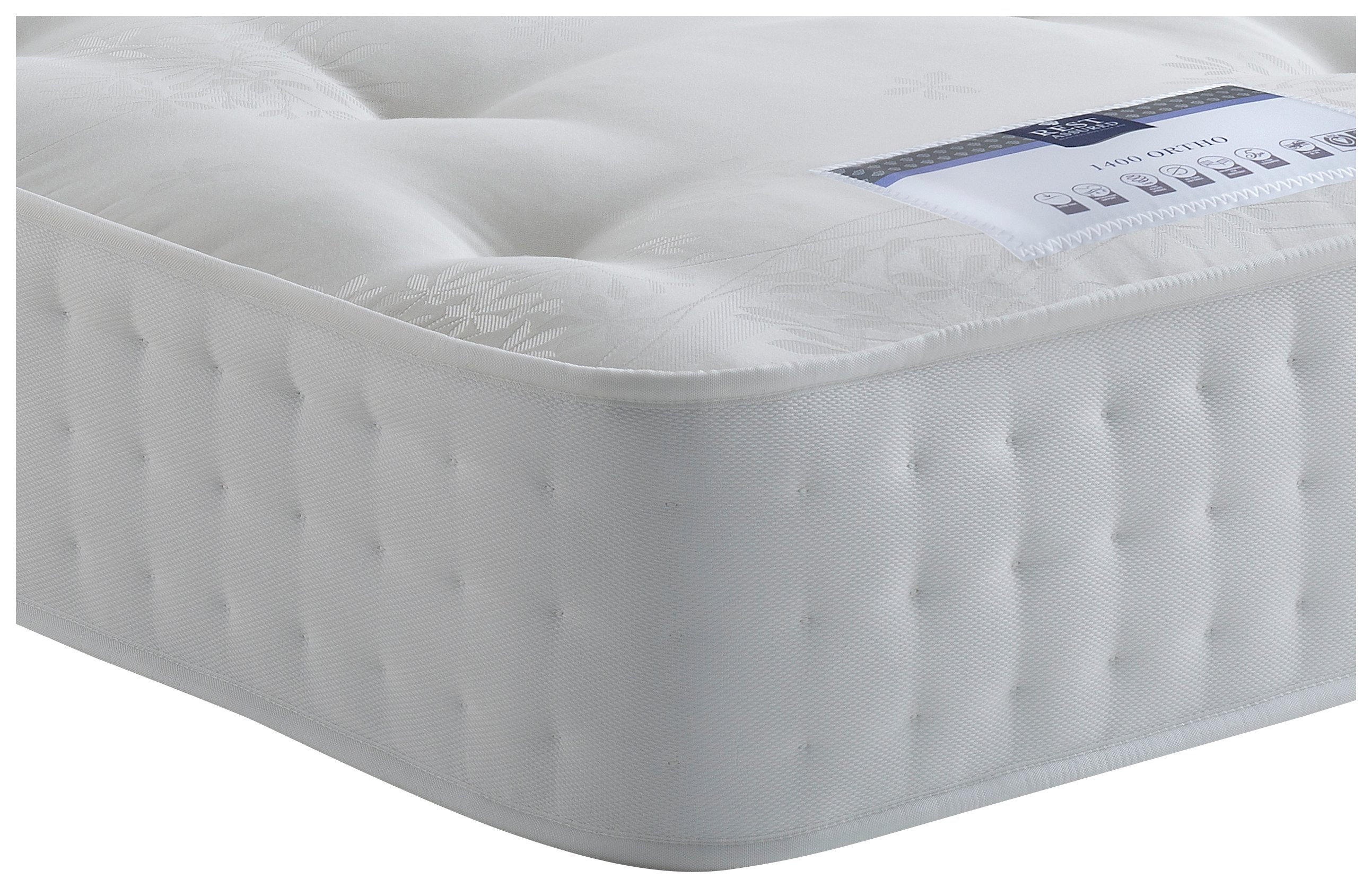 Rest Assured - Irvine 1400 Pocket Ortho - Single Mattress at Argos