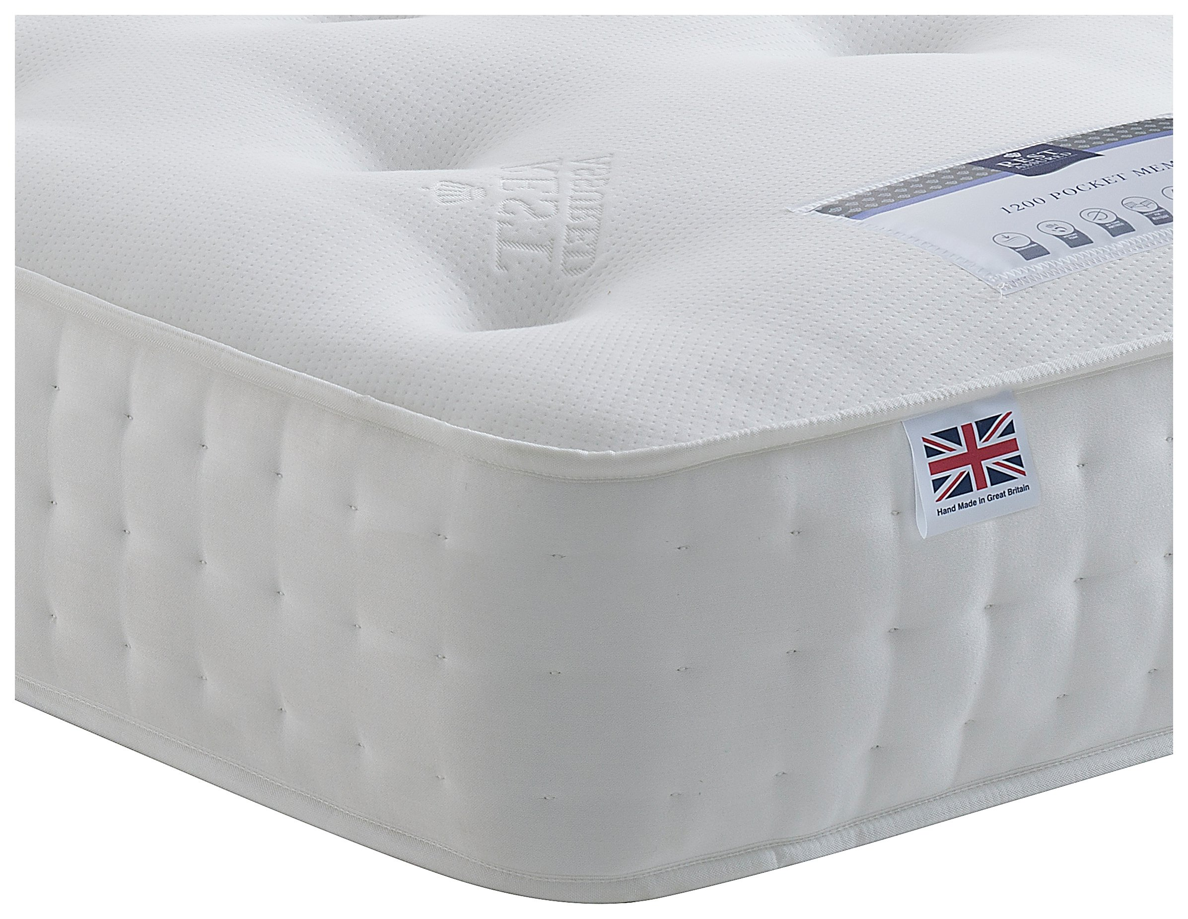 Rest Assured - Irvine 1400 Pocket - Single Memory Foam Mattress at Argos
