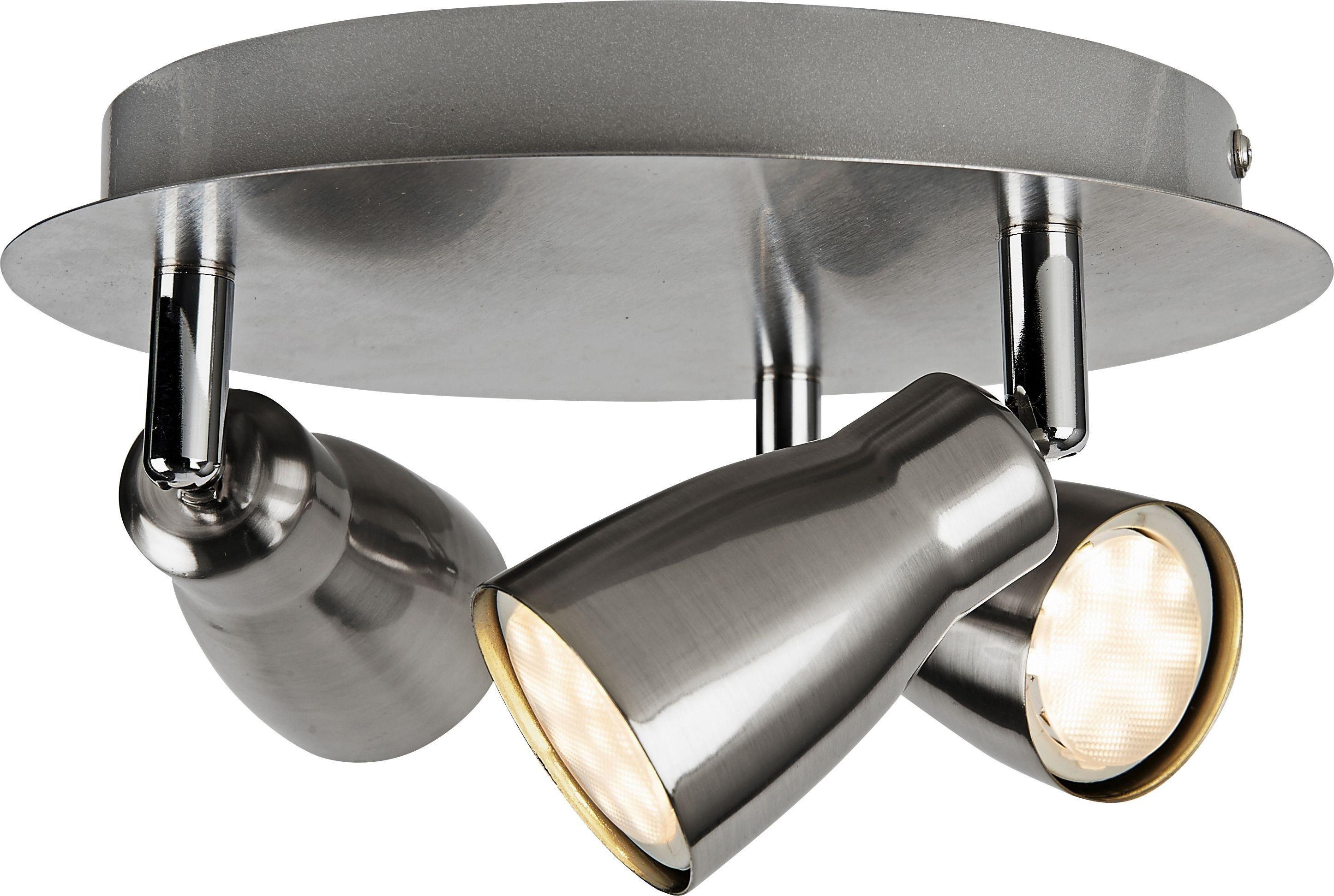 Argos Home - Miller 3 Spotlight Ceiling Plate - Brushed Chrome