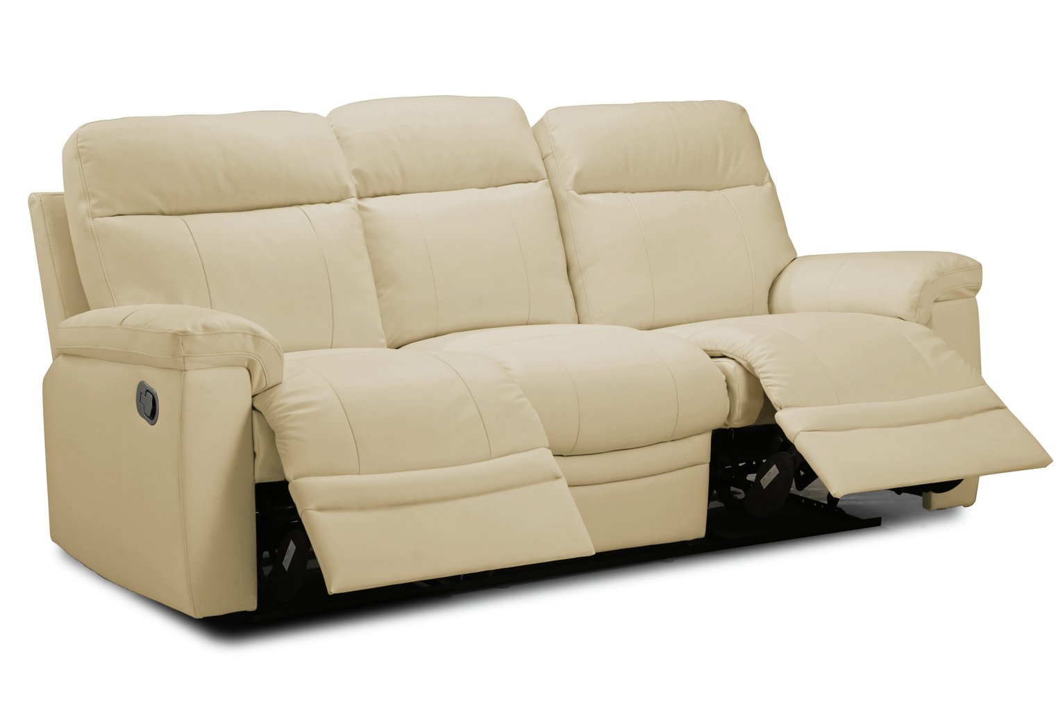 Argos Home Paolo 3 Seater Manual Recliner Sofa - Ivory