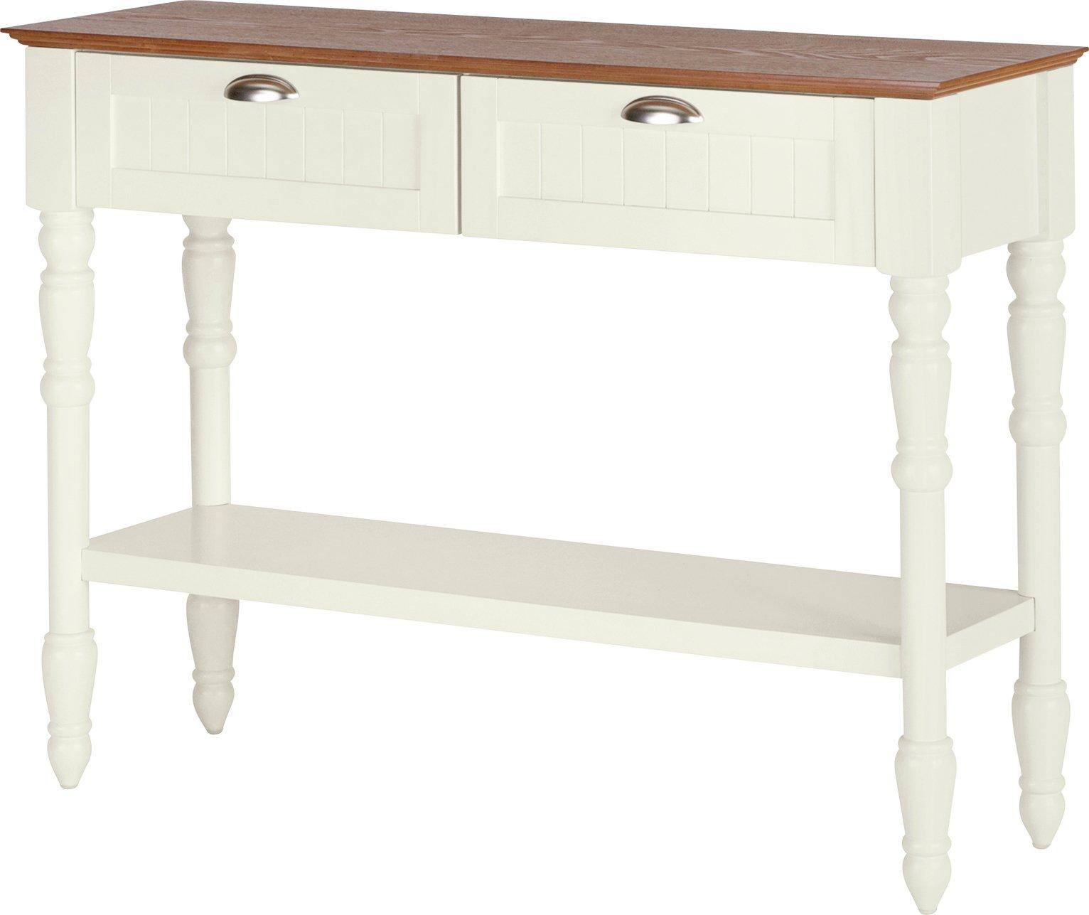 Argos Home Addington 2 Drw 1 Shelf Console Table - Two Tone