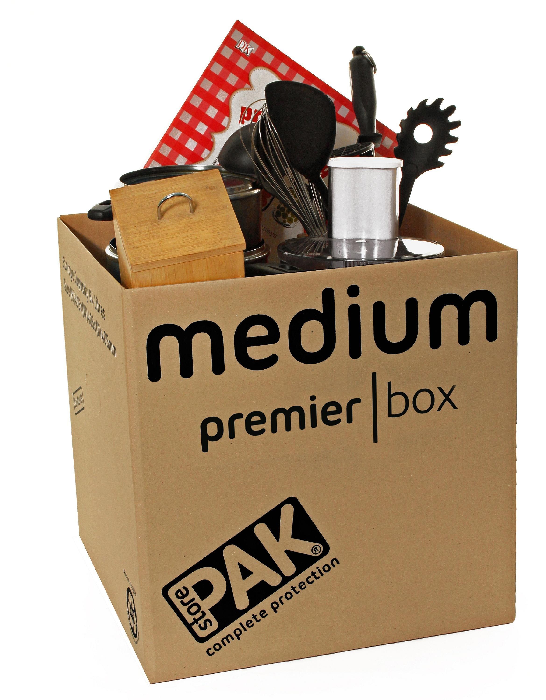 StorePAK Heavy Duty Medium Cardboard Boxes - Set of 5