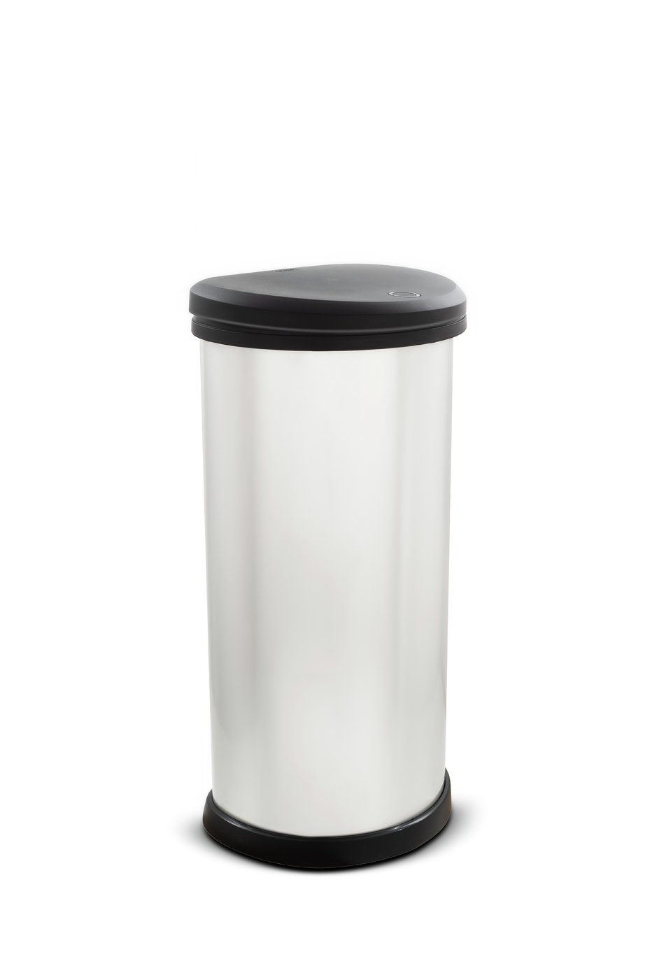 Curver 40 Litre Deco Touch Top Kitchen Bin - Silver