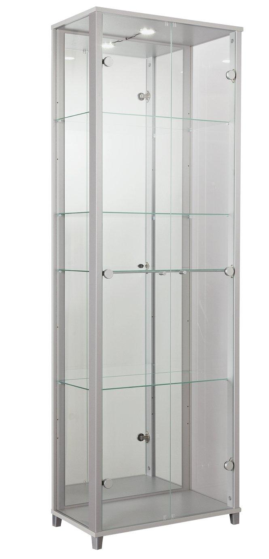 Argos Home 2 Door Glass Display Cabinet - Silver