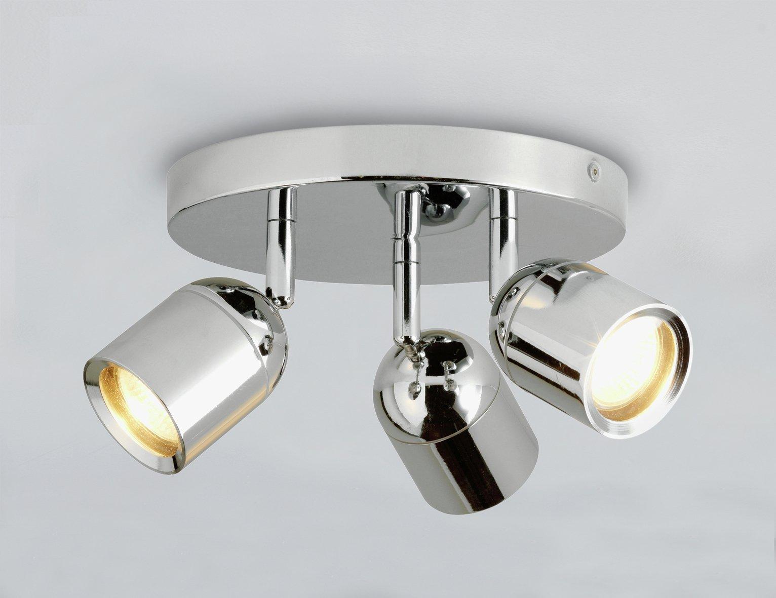 Argos Home - Baretta 3 Light Bathroom Spotlight - Chrome