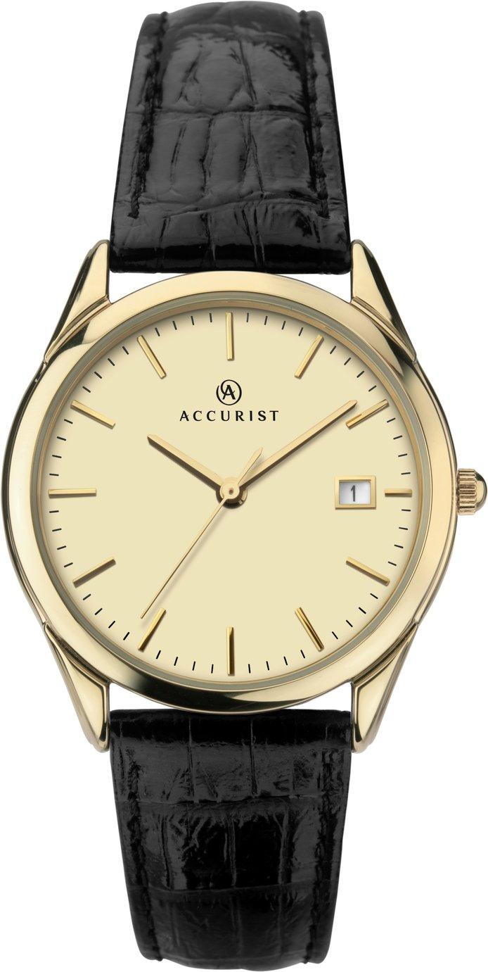 Accurist - Mens Quartz Leather Strap - Watch