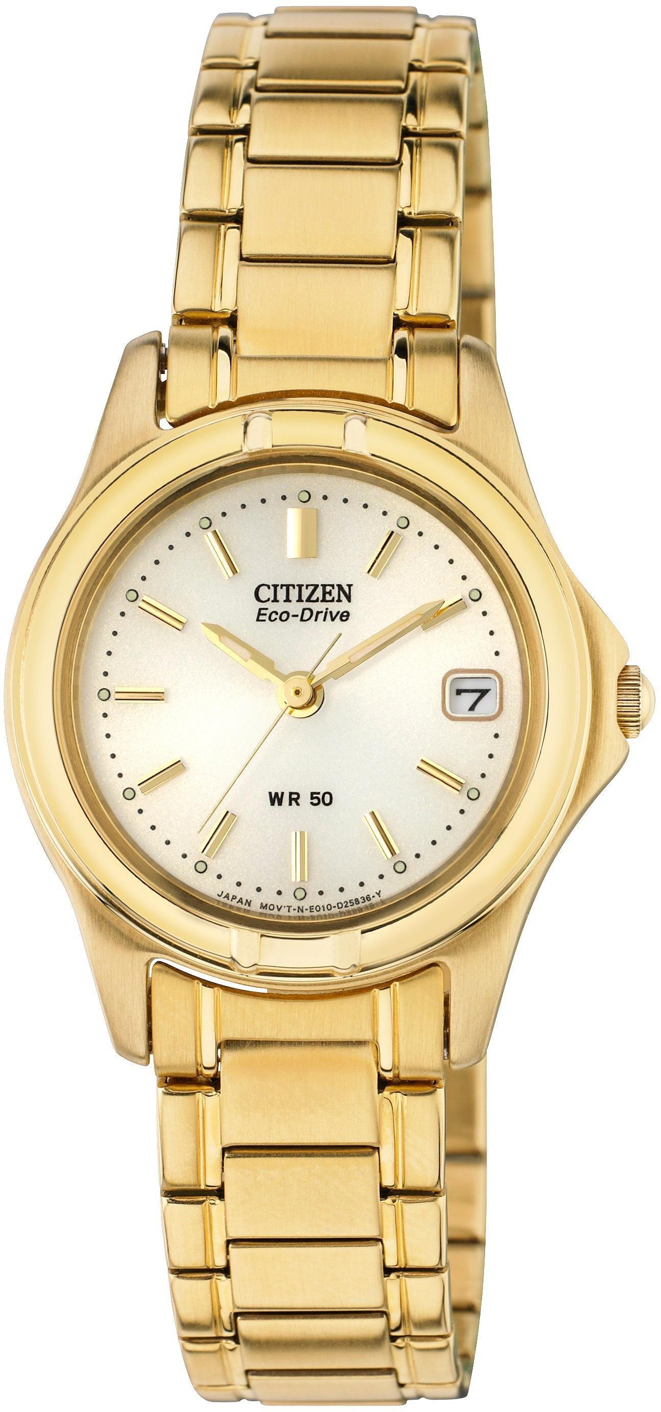 Citizen - Ladies Eco-Drive Gold Tone Bracelet - Watch