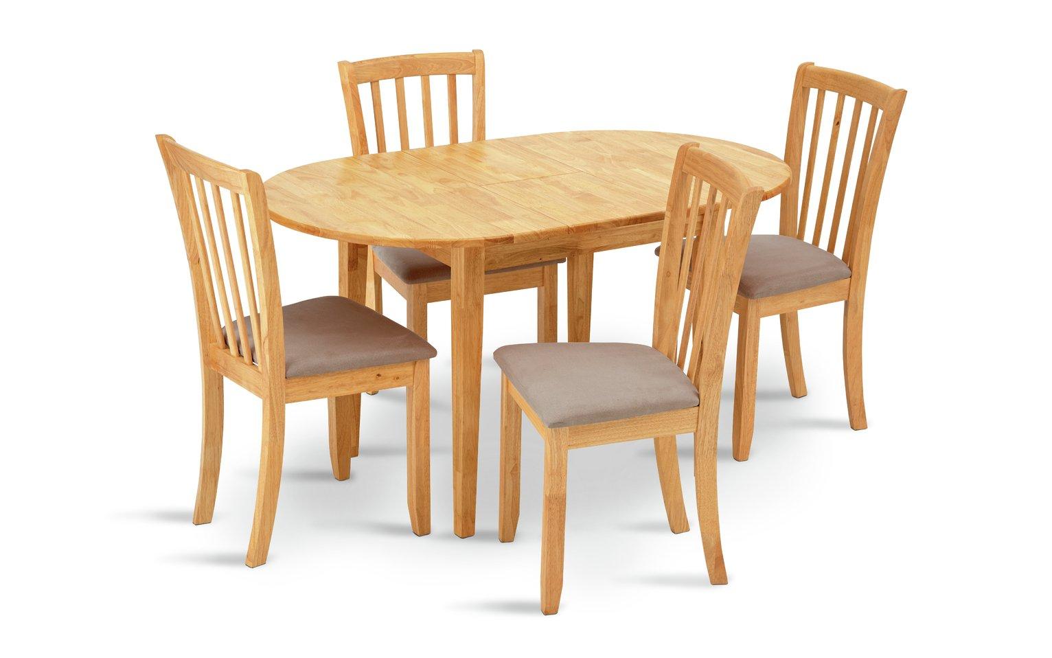 Argos Home Banbury Extendable Table & 4 Chairs - Cream