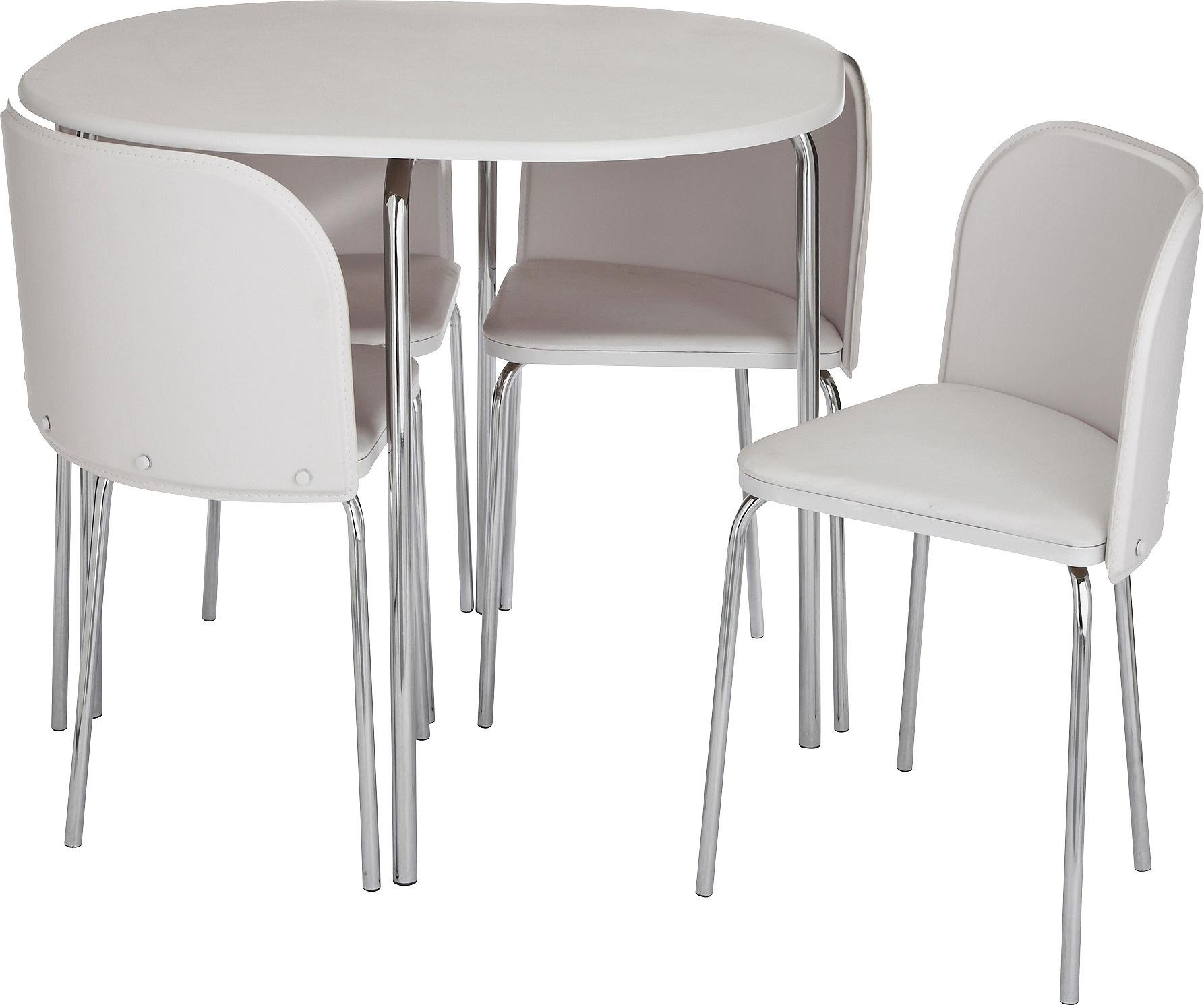 Argos Home Amparo Dining Table & 4 Chairs - White