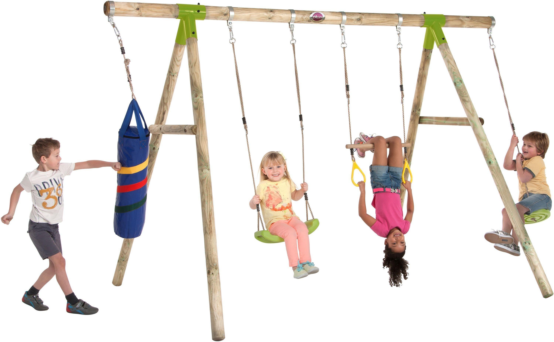 Plum Capuchin Wooden Pole Swing Set