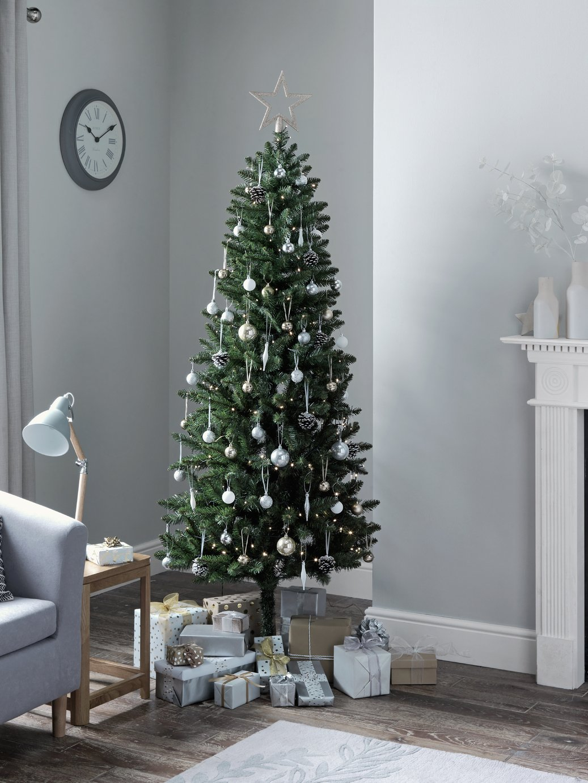 HOME - 6ft Slim Christmas Tree - Evergreen