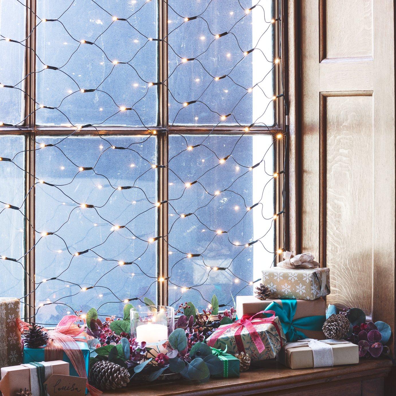 160 Net Christmas Decoration Lights - Clear