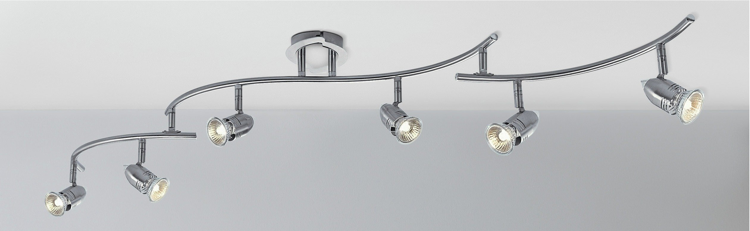 Argos Home - Norton 6 Light Folding Ceiling Bar - Chrome