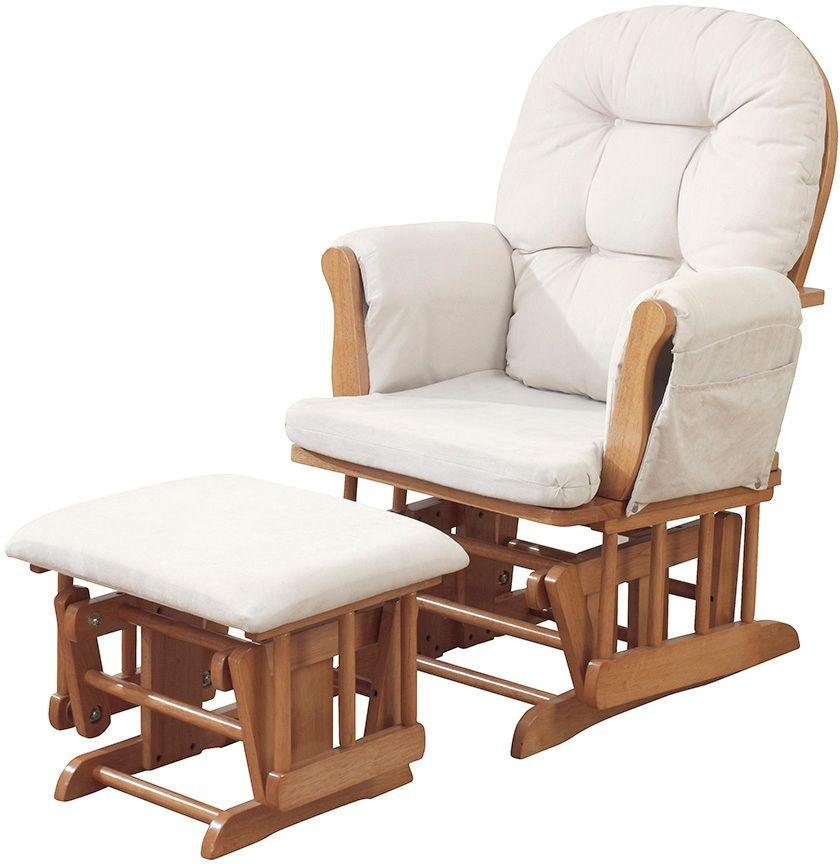 Kub Haywood Glider and Footstool - Beige and Natural