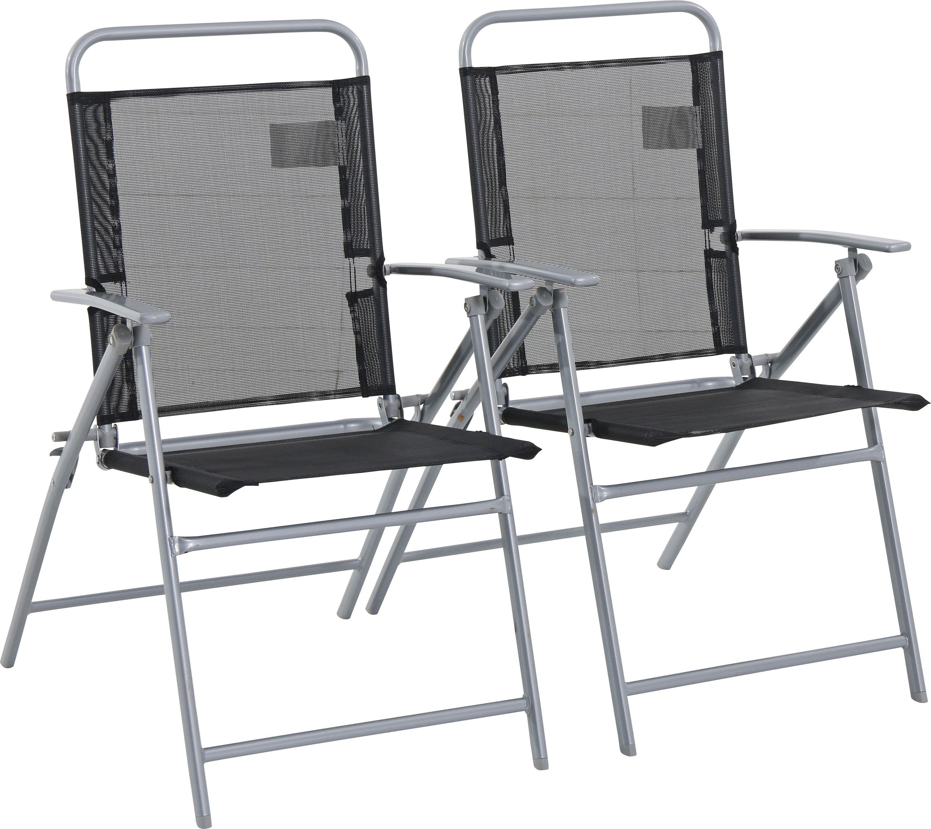 Argos Home - Steel Folding Chairs - Set of 2